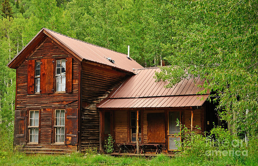 Cabin Photograph - Crystal Cabin by Kelly Black