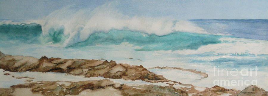 Seascape Painting - Crystal Crash by Parrish Hirasaki