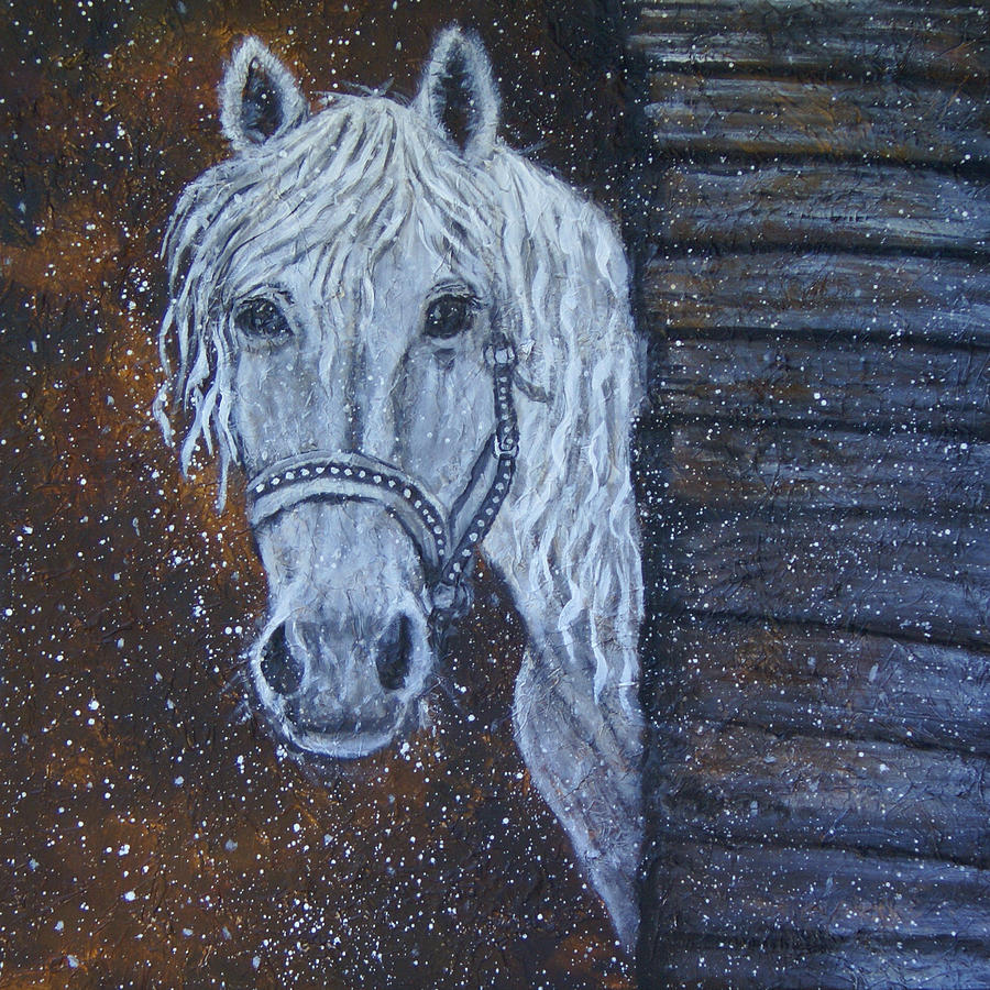 Horse Painting - Crystal Door Opening by The Art With A Heart By Charlotte Phillips