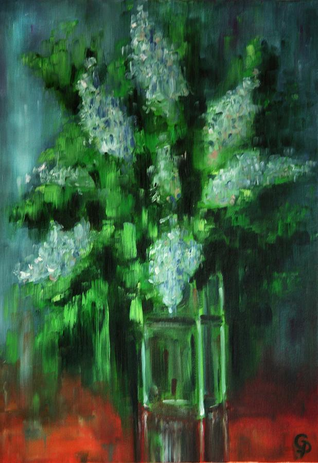 White Flowers Painting - Crystal Flowers by George Dadiani