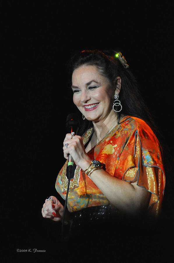 Kenny Francis Photograph - Crystal Gayle by Kenny Francis
