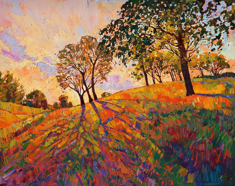 Crystal hills painting by erin hanson for Paintings of crystals