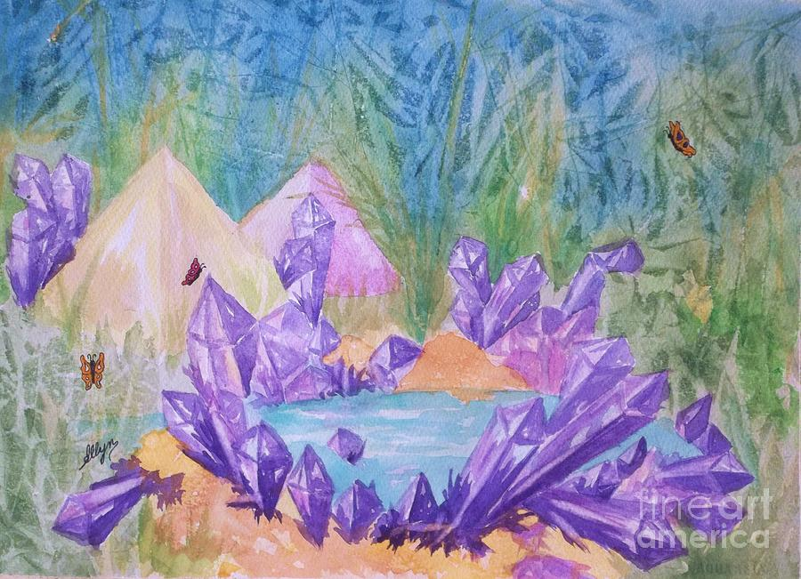 Lake Painting - Crystal Lake by Ellen Levinson