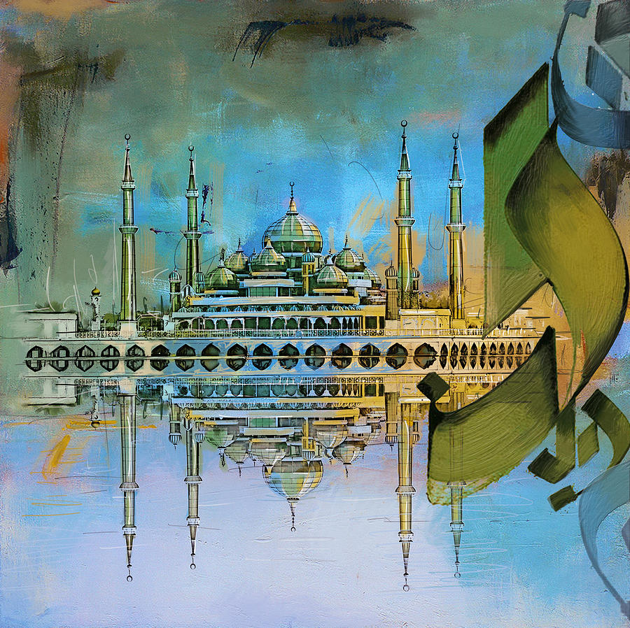 Crystal Mosque Painting By Corporate Art Task Force