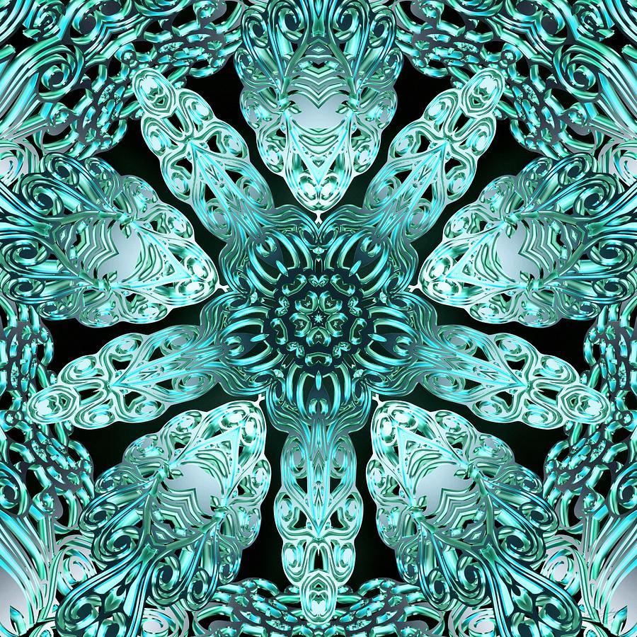 Sacredlife Mandalas Digital Art - Crystal Perspective by Derek Gedney
