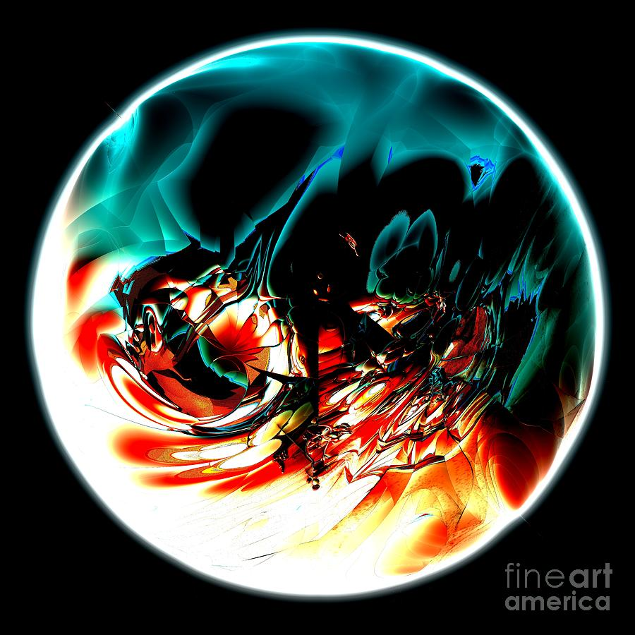 Fractal Art Digital Art - Crystal Planet by Bernard MICHEL