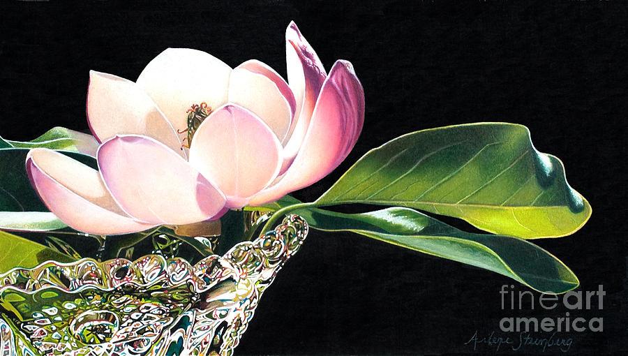 Colored Pencil Painting - Crystal Rhythms by Arlene Steinberg