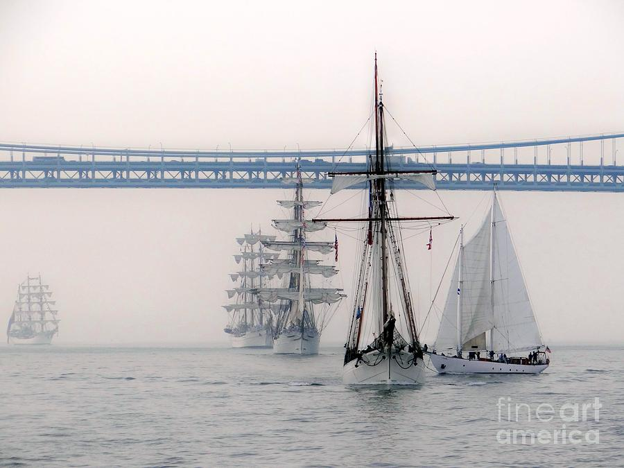 Naval Ships Photograph - Crystal Ships On The Water Nyc by Ed Weidman