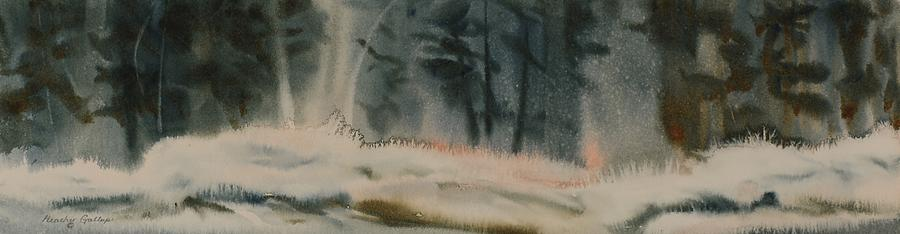 Winter Painting - Crystals In The Cedars by Heather Gallup