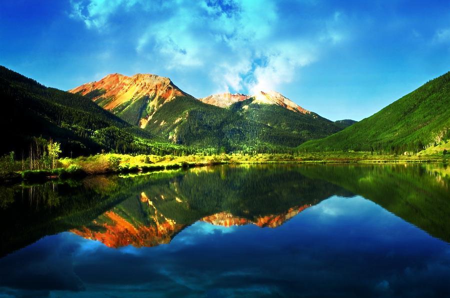 Crystal Lake Photograph - Crytsal Reflections by Cheryl Cencich