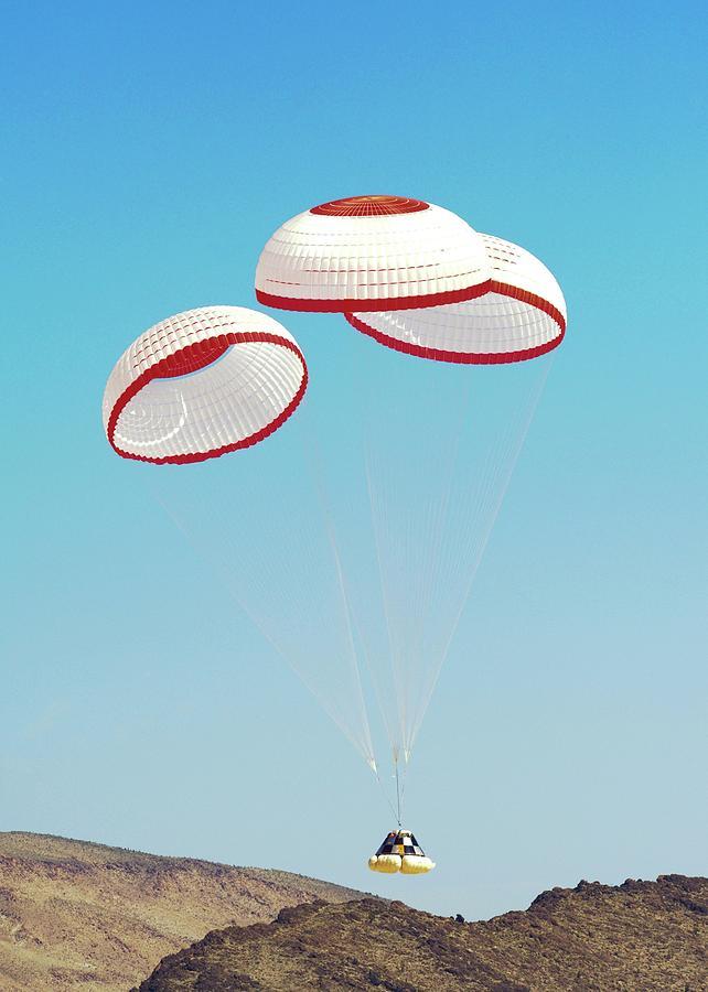 Crew Capsule Photograph - Cst-100 Crew Capsule Testing by Nasa/boeing