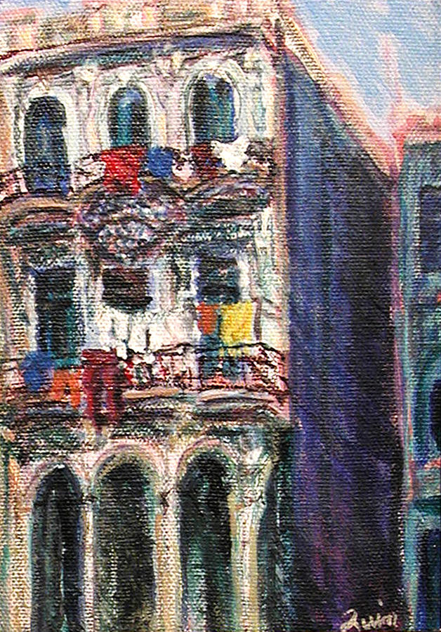 Cities Painting - Cuba Edificios by Quin Sweetman