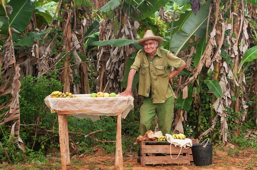 Cuban Man Selling Produce Photograph by John Elk Iii