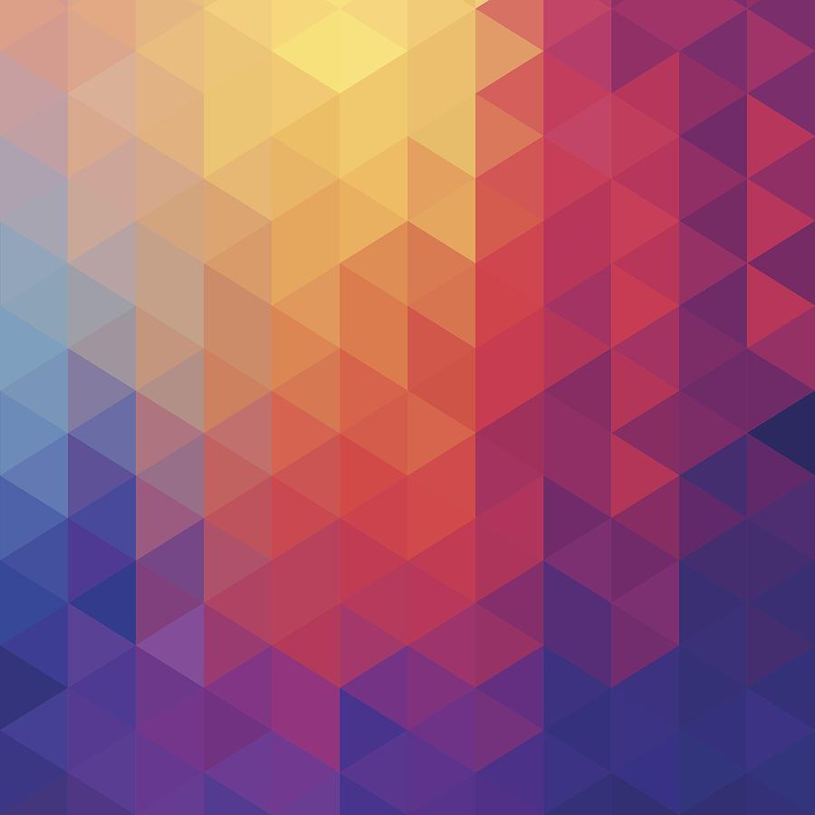Cube Diamond Abstract Background Digital Art by Mustafahacalaki