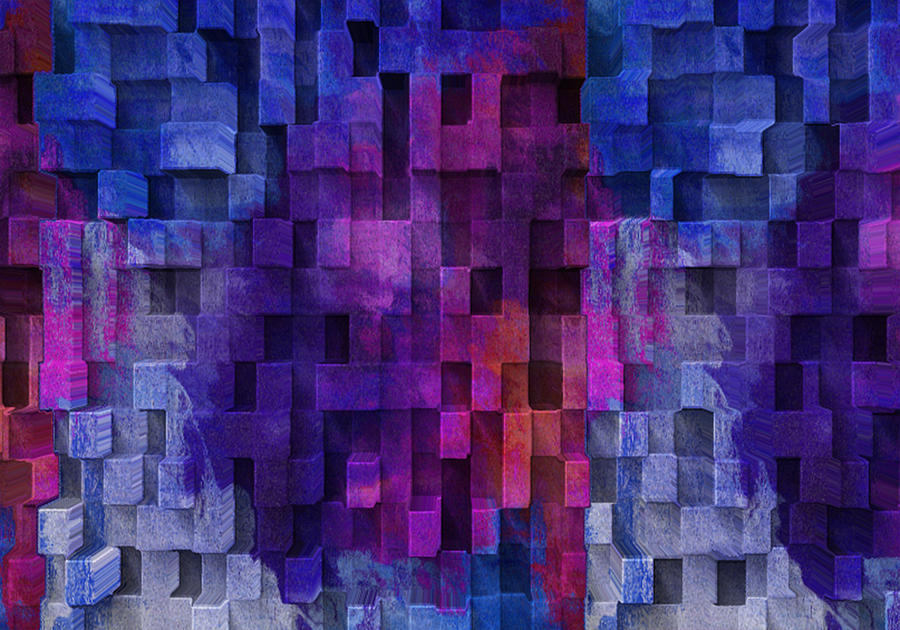 Abstract Digital Art - Cubed 2 by Jack Zulli