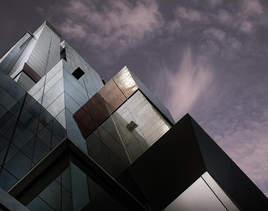 Architecture Photograph - Cubic Reflection. by Harry Verschelden