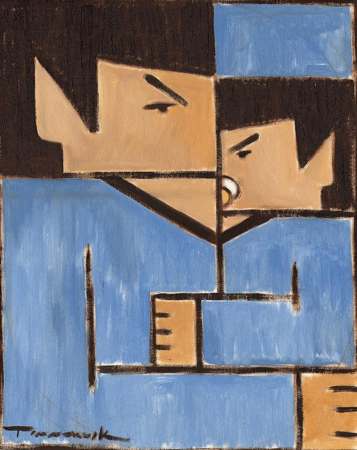 Spock Painting - Cubism Spock baby Spock Art Print by Tommervik