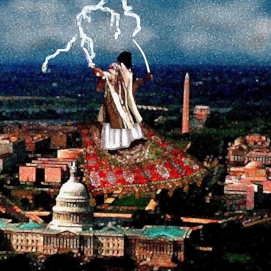 Washington Painting - Cubist Jihad by Jann Paxton