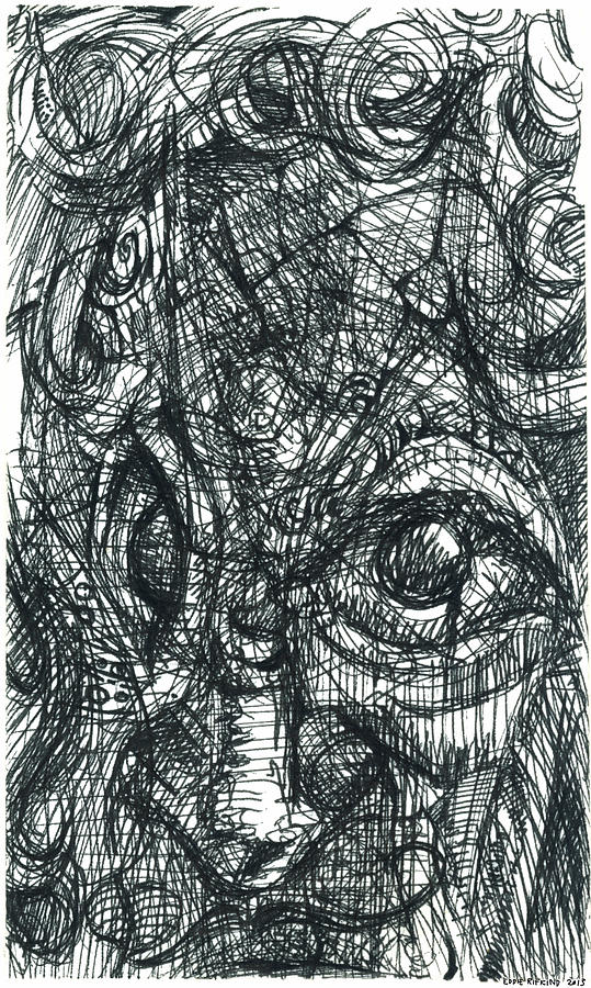 Face Drawing - Cubisto 1 by Eddie Rifkind