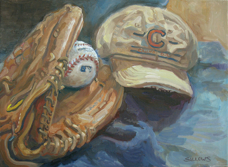 Chicago Painting - Cubs Fan by Nora Sallows