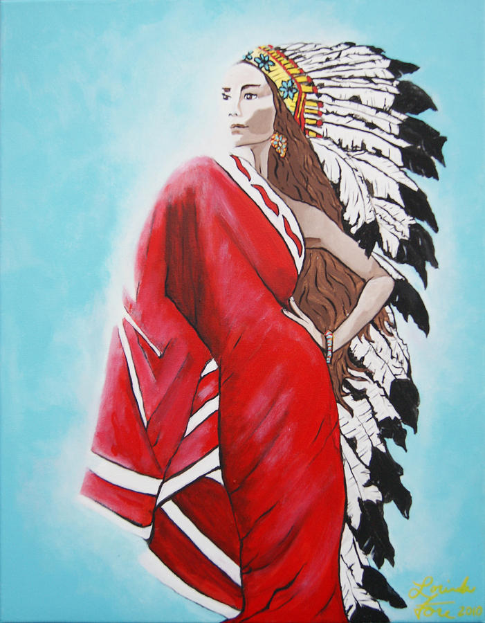Potawatomi Painting - Cue The Precious Prize by Lorinda Fore