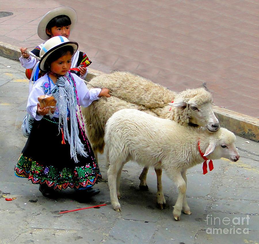Kid Photograph - Cuenca Kids 233 by Al Bourassa