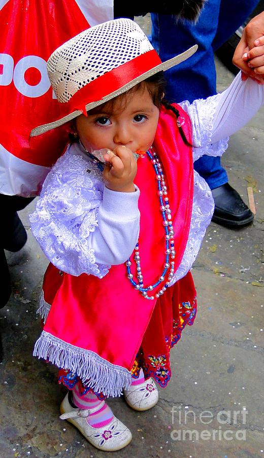 Girl Photograph - Cuenca Kids 242 by Al Bourassa