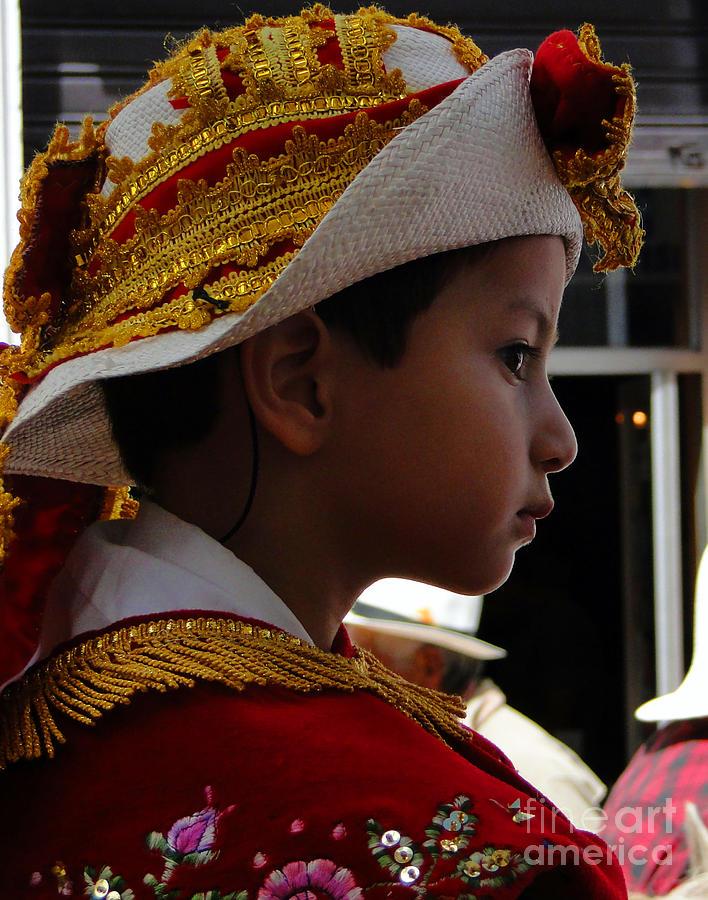Boy Photograph - Cuenca Kids 249 by Al Bourassa