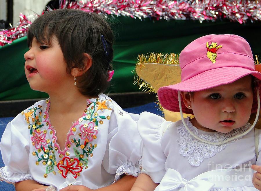 Girl Photograph - Cuenca Kids 250 by Al Bourassa