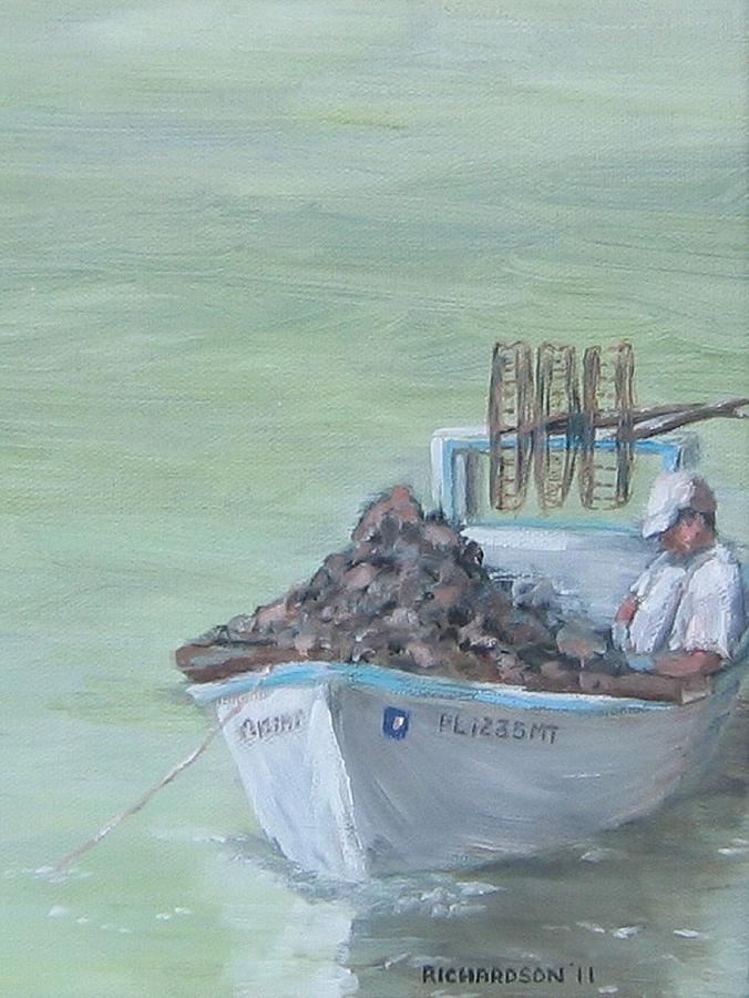 Oysters Painting - Culling The Catch by Susan Richardson
