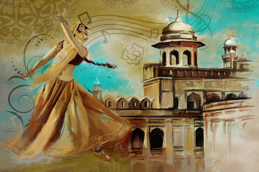 Pakistan Painting - Cultural Dancer by Catf