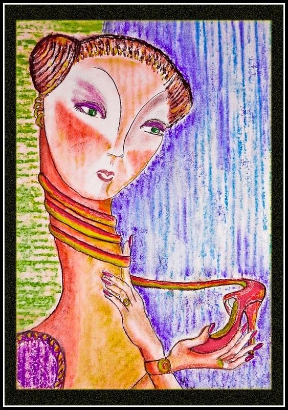 Women Pastel - Cultural Habit by Satya Winkelman