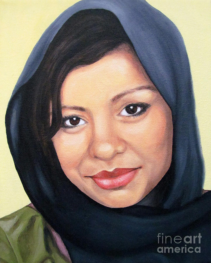 Portrait Painting Painting - Cultured Beauty by Malinda  Prudhomme