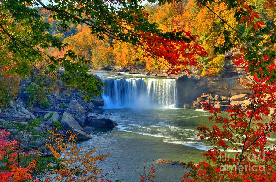 Cumberland Falls In Autumn 2 by Mel Steinhauer
