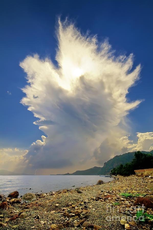 Cumulonimbus Incus Cloud Rising Photograph by Leyla Ismet