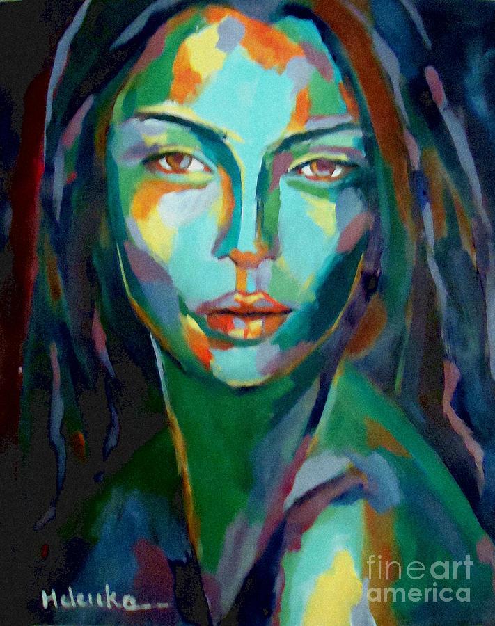 Portrait Painting - Cunning by Helena Wierzbicki
