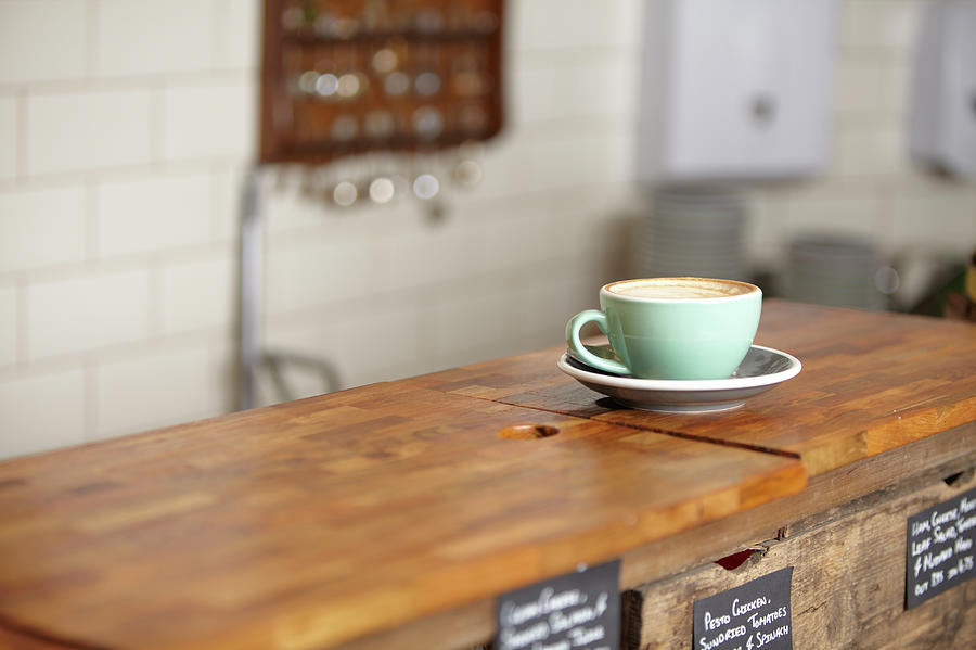 Cup Of Coffee In A Mint Green Mug Photograph by Ezra Bailey
