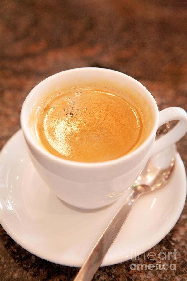 Coffee Photograph - Espresso In White by Iris Richardson