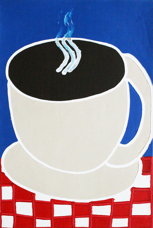 Coffee Painting - Cup Of Coffee by Matthew Brzostoski