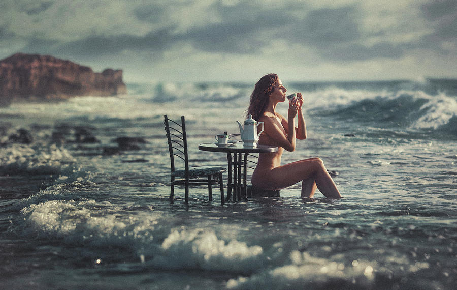 Fine Art Nude Photograph - Cup Of Tea by Evgeny Loza