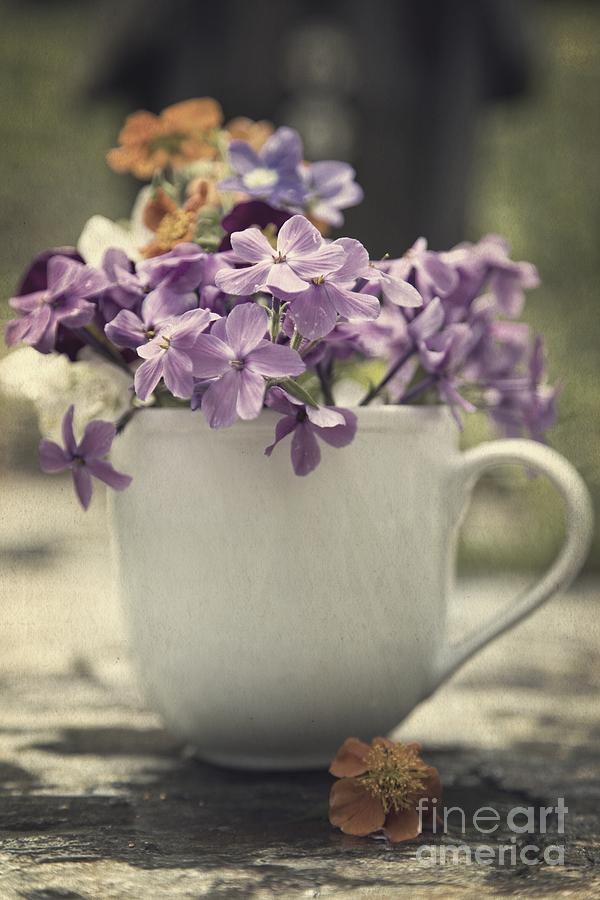 Colorful Photograph - Cup Of Wildflowers by Edward Fielding