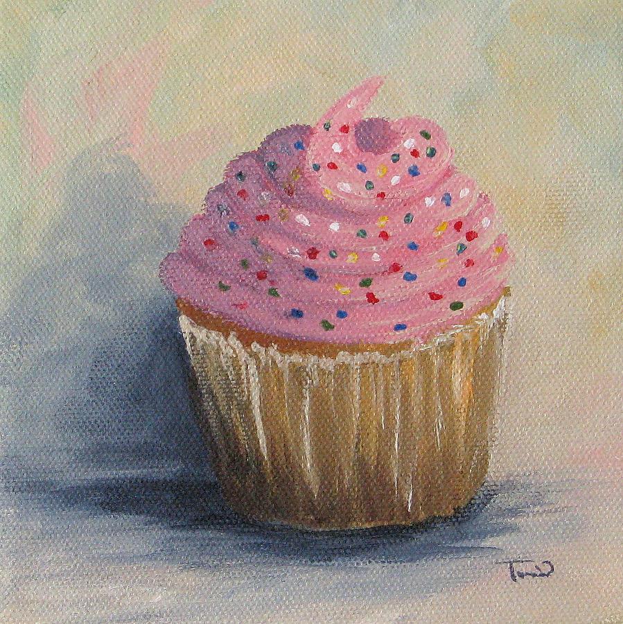 Cupcake Painting - Cupcake 004 by Torrie Smiley