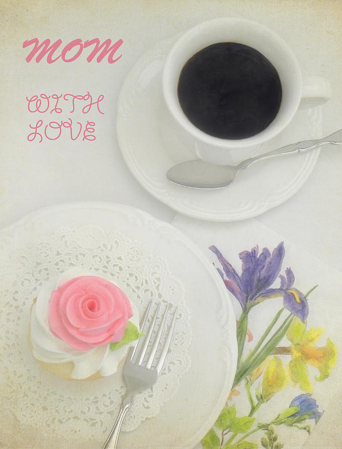 Cupcake Photograph - Cupcake And Coffee For Mom by Sandi OReilly