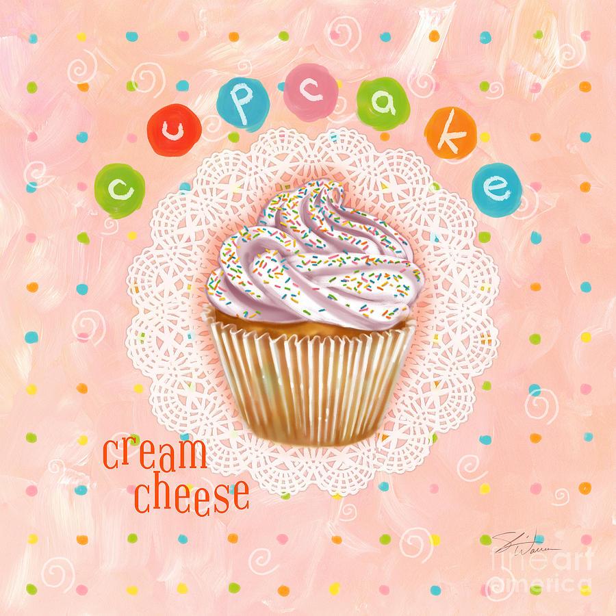 Cupcake Mixed Media - Cupcake-cream Cheese by Shari Warren