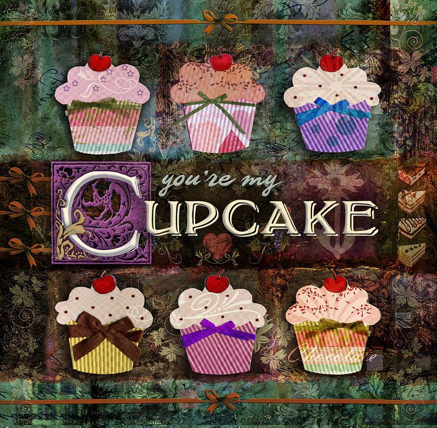 Cupcake Digital Art - Cupcake by Evie Cook