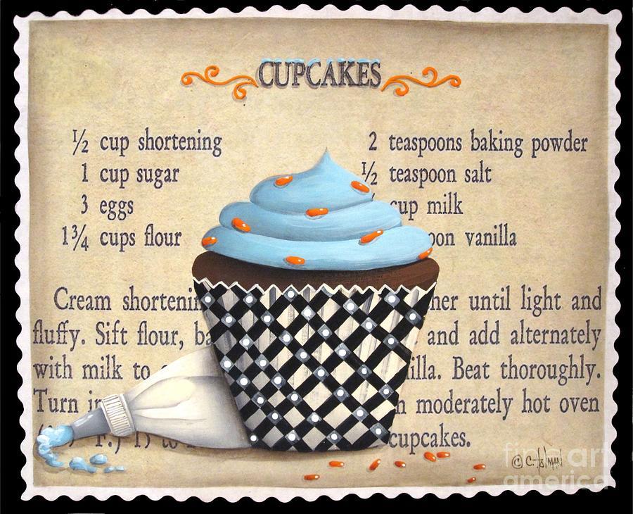 Cupcake Painting - Cupcake Masterpiece by Catherine Holman