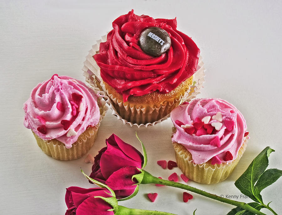 Roses Photograph - Cupcakes And Roses by Kenny Francis
