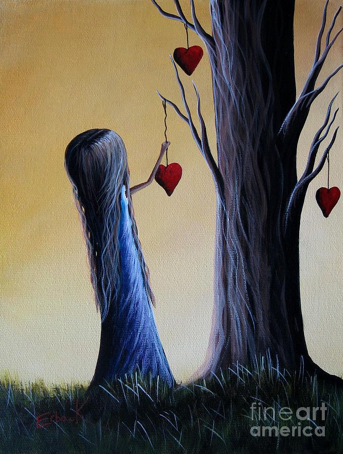 Hearts Painting - Cupids Tree By Shawna Erback by Shawna Erback