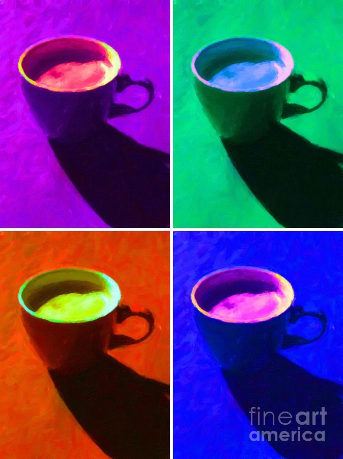 Coffee Photograph - Cuppa Joe - Four by Wingsdomain Art and Photography