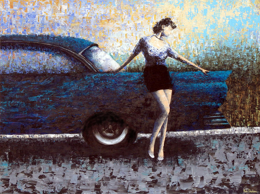 Cars Painting - Curb Appeal by Ned Shuchter